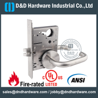 SUS304 Heavy Duty ANSI Mortise Passage Door Lock for Wooden Door-DDAL01 F01